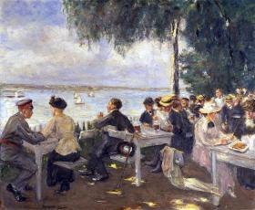 1916: Max Liebermann, Gartenlokal an der Havel