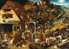 1559: Nederlandse Spreekwoorden af Pieter Bruegel