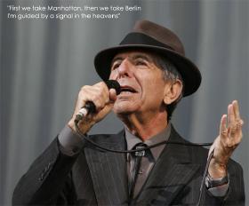 Leonard Cohen - First Manhattan - then we take Berlin