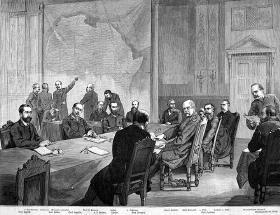 1885 - Bismarcks konference deler Afrika.