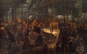 1875: Adolph Menzel, Stålvalseværket - Moderne kykloper