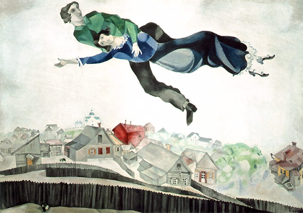 chagall over town